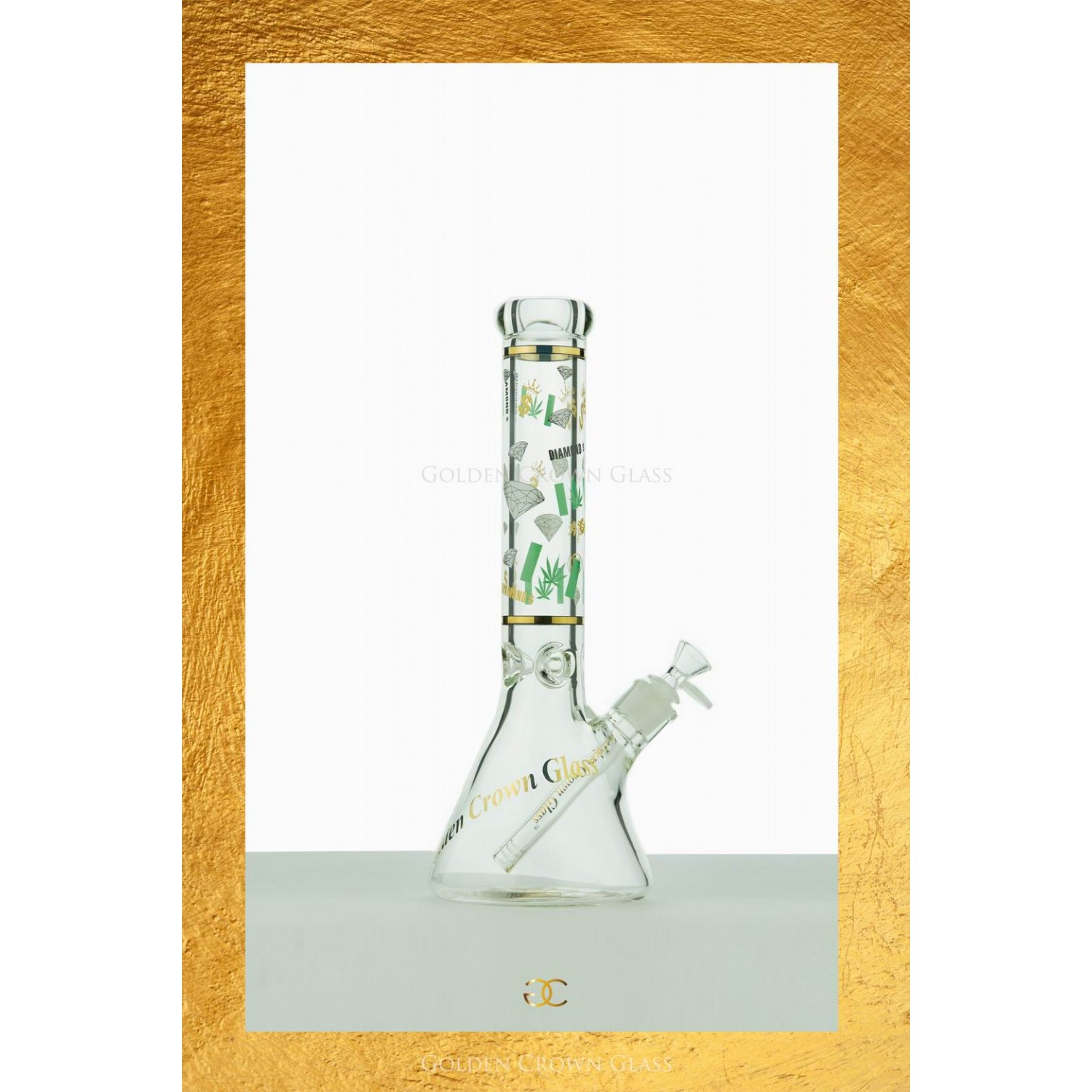 "The Herb Diamond Waterpipe 14"" by GOLDEN CROWN"