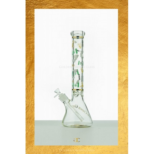 "The Herb Diamond Waterpipe 16"" by GOLDEN CROWN"